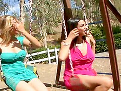 Horny Latinas are fucked by big cocks in a foursome