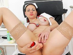 Beauty Beatrix is stretching her trimmed puss