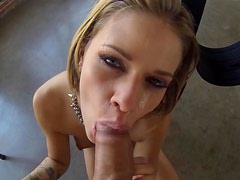 Blonde Jessa Rhodes being fucked in her throat