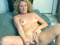 Bottle got poked and drilled into her wet and tight pussy by her