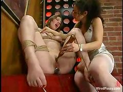 Horny Virginia gets toyed in both holes by Holly