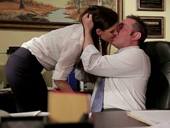 Sexy Office MILF Sucks and Swallows to Keep her Job