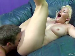 Kierstin Koyote gets her snatch licked and fucked in missionary position