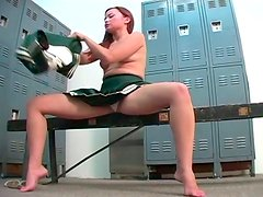 Students having fun in the changing room naked