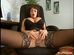 Big Titted Submissive Bitch Goes Wild When She Meets A Dominant Mistress!