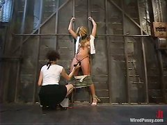 Alicia Silver gets her snatch amazingly toyed in BDSm scene