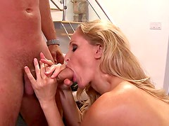 Desperate cock sucker is satisfying her coach
