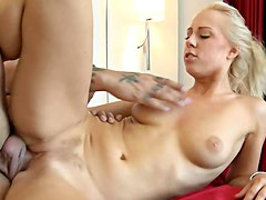 Gorgeous Carla Cox is eating creampie