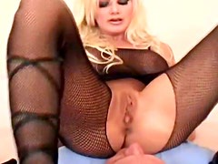 Adorable bimbo with nice tits wants anal sex