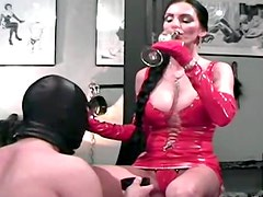 Kinky Carmen abuses submissive guy