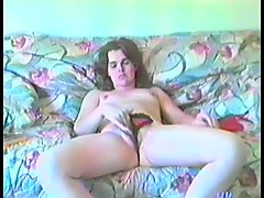Amateur girl masturbates and gets her hairy twat dicked