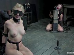 Charlotte Vale and Samantha Sin enjoy some torments in a basement