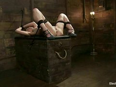 Toying Sexy Babe Audrey Rose in BDSM Lesbian Action Clip