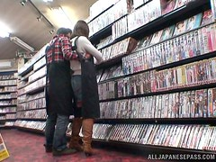 Hardcore Fucking with a Japanese Amateur in DVD Store