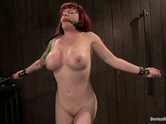 Kinky Kylie Ireland gets toyed with a vibrator and tied up