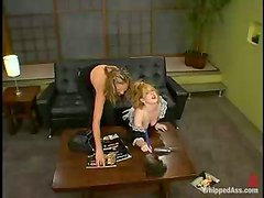 Blonde housemaid gets punished and humiliated