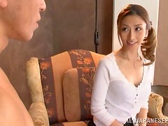 Gang-bang with a horny asian getting fucked by a bunch of big dicks.