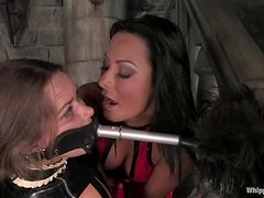 Devaun enjoys having wax on her cunt in a hot BDSM video