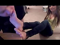 Young Girl's Foot Worship