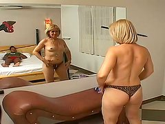 Blonde Mature Slut Enjoying a Big Black Cock in Her Cunt