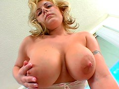 Busty MILF loved to suck a large cock of her friend