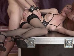 Threesome mmf hardcore fuck featuring Hanna