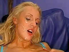 Insane cumswallowing session with a cute blonde