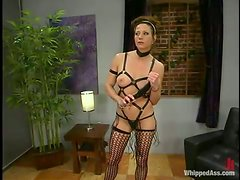 Eva Lux gets her vag toyed and whipped by Kym Wilde