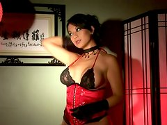Amazing Solo Show by Busty Brunette Gianna Lynn in Foxy Lingerie