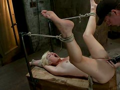 Bonded Chloe Camilla gets whipped and then toyed
