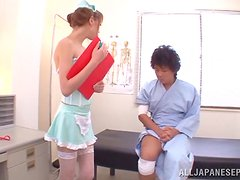 Naughty asian nurse likes to get fuck deep and hard.