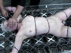 Cherry Torn gets tortured to orgasm by Sgt. Major in BDSM scene