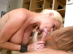 Nikita Von James enjoys guys pole in