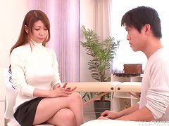 Doggy-style sex with a japanese teen and her horny boyfriend.