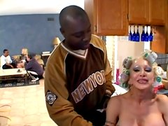Poor Alicia Rhodes gets double penetrated by Black guys