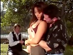 Mrs. Lee the sexy Asian gets fucked hard outdoors