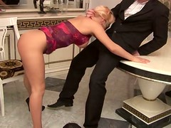 Admirable blondie Britney gives head and rides dick like a pro