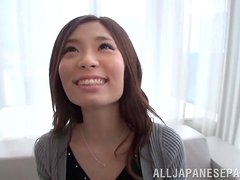Stunning asian babe gets rammed from behind doggystyle.