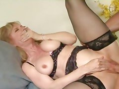 Nina Hartley gets her pussy crammed with hard cock