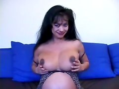 Big Boobed Pregnant Babe Devin Demoore Gets Jizz On Her Tits