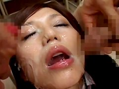 Cum-swallowing compilation with Japanese