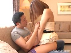 Sex on the floor with a desirable Japanese angel Kokone