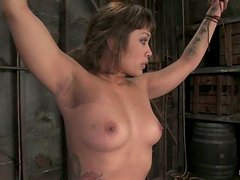 Exotic hottie DragonLily enjoys being treated badly in BDSM vid