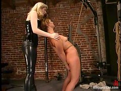 Two smoking hot and gorgeous babes are going to have some BDSM