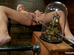 Lexi Swallow Gets Her Pussy Wet and Ass Drilled by Machine