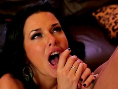Hot and beautidul brunette Veronica Avluv gets her pussy fucked
