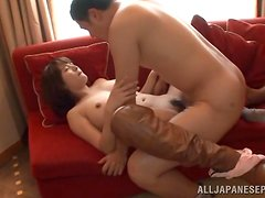 Hairy Asian Couple Fuck And Suck In Many Different Positions
