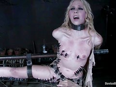 Sarah Jane Ceylon gets her tits pinched and her vag drilled with a toy