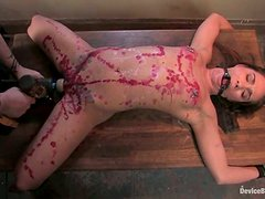 Girl with Tattoos Gets Candle Wax Torture in Bondage video