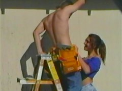 Amateur couple are having sex on their frontyard